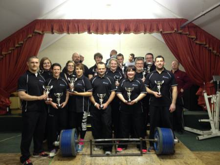 The Fighting Fit Powerlifting Club at the WSA Single Lifts, December 7th 2014